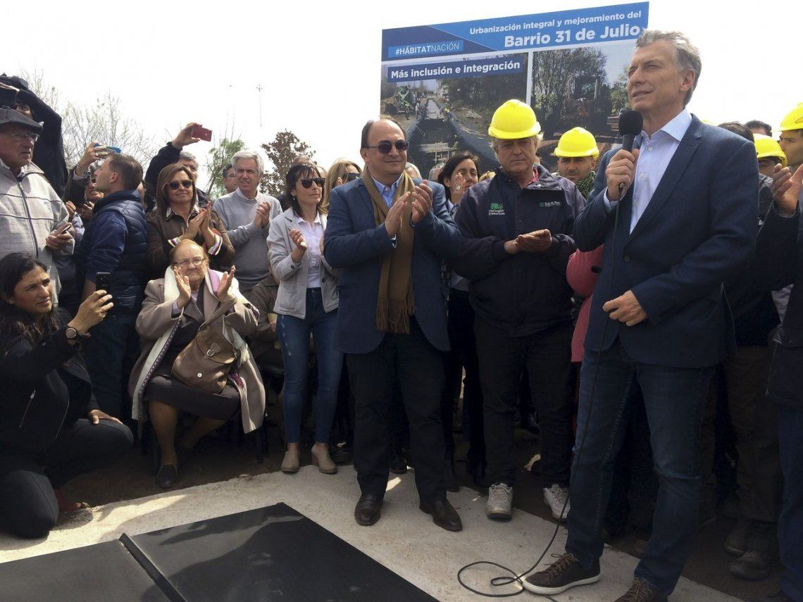 Mauricio Macri en Saladillo: Nosotros somos parte de la solución, no del problema