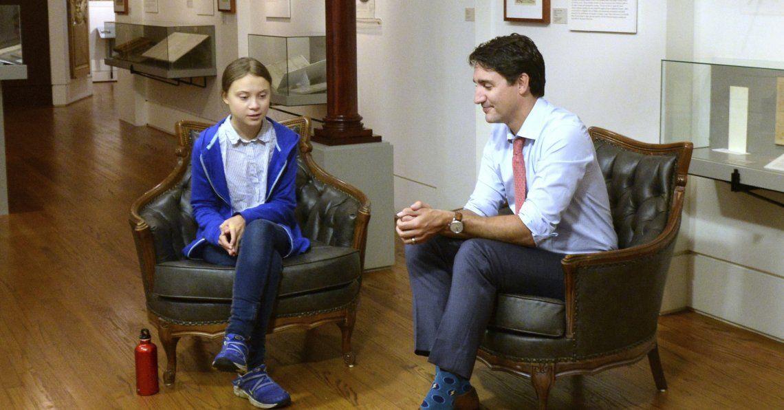 Trudeau afirmó que estaba completamente de acuerdo con la activista.