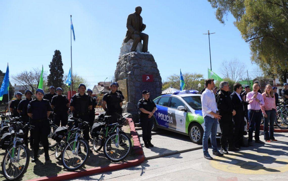 Lanús: diez patrullas y más bicicletas para la Policía Local