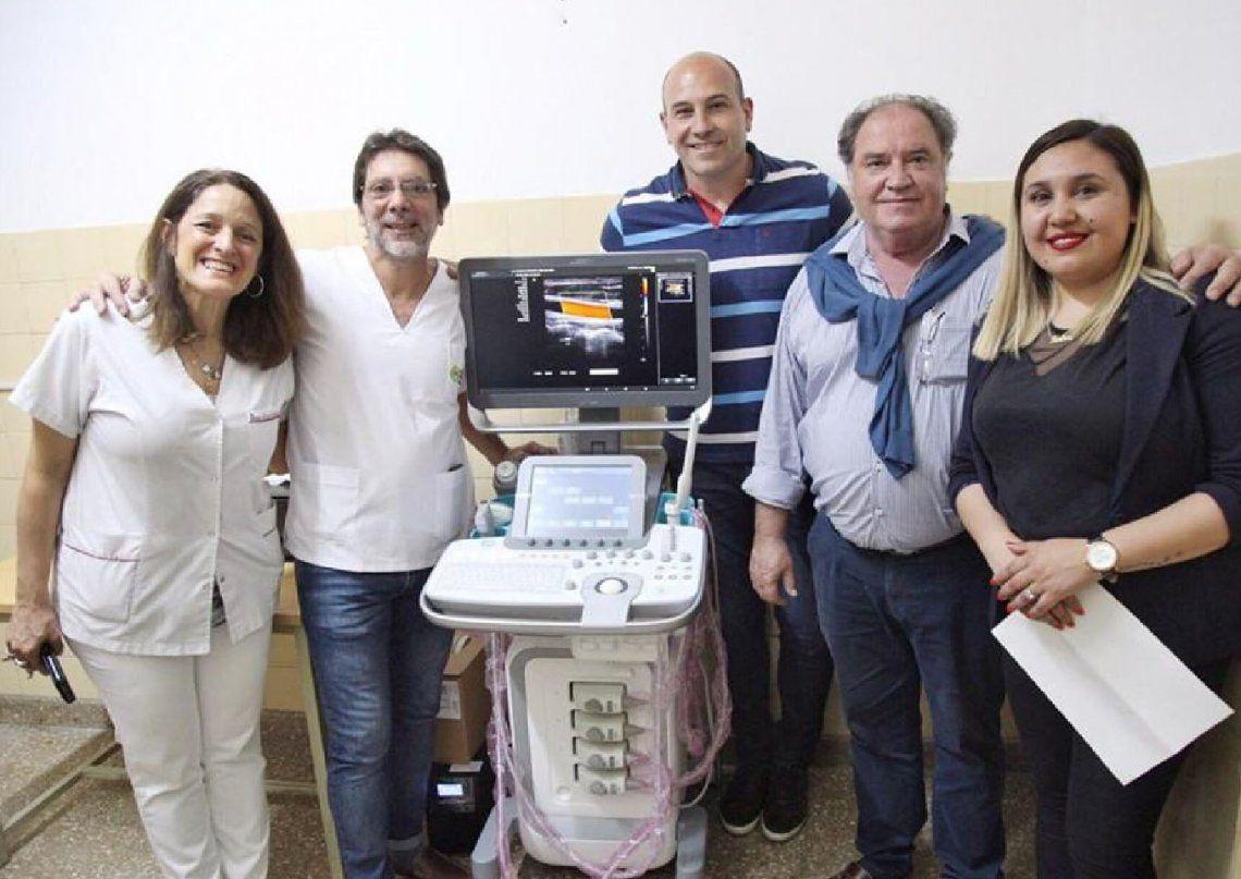 Quilmes: donan un ecógrafo al Hospital Oller de San Francisco Solano