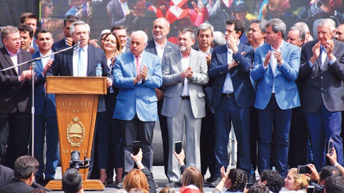 Alberto Fernández le dio un fuerte apoyo a la industria minera