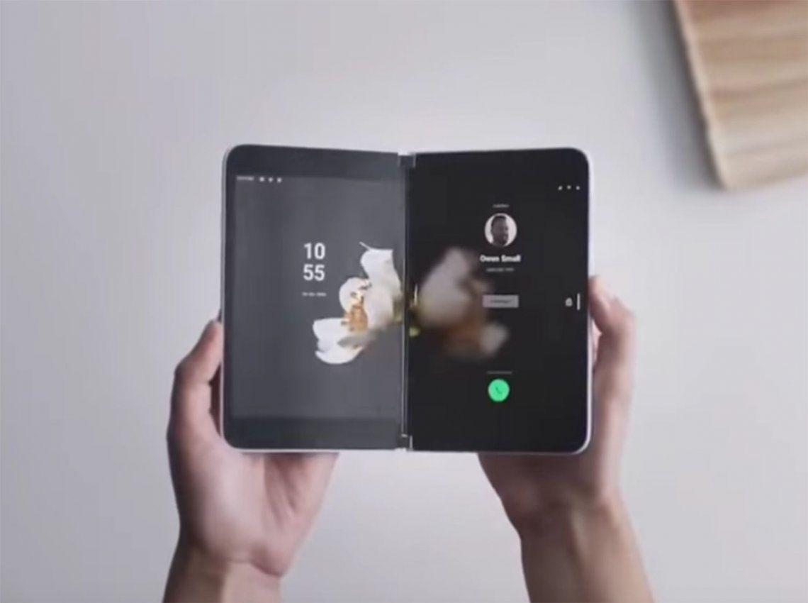 Microsoft vuelve al mundo de los smartphones con un equipo de doble pantalla