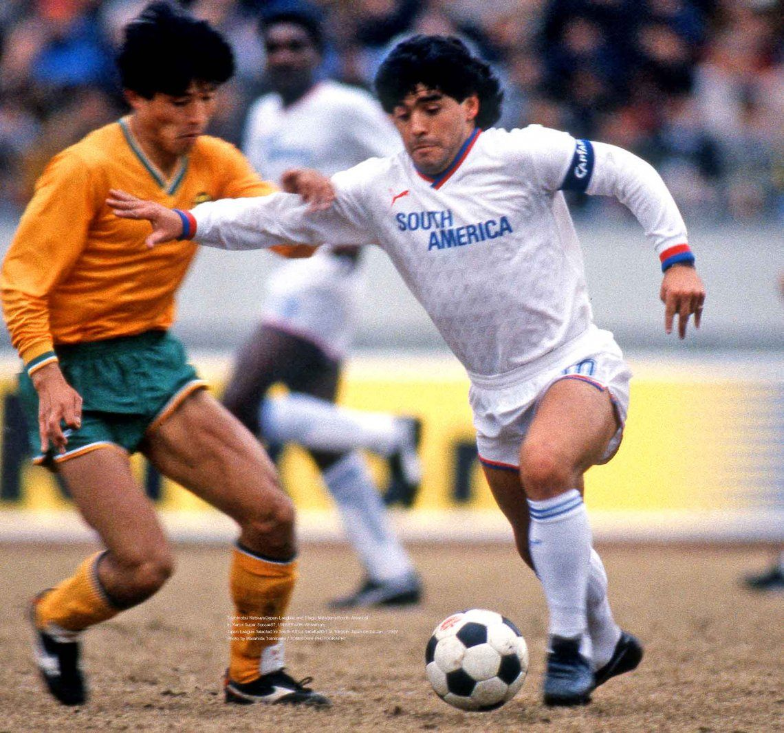 Nuevas fotos inéditas de Diego Maradona jugando a beneficio en Japón