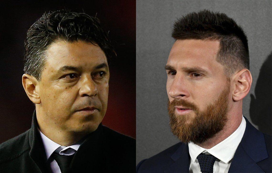 Messi posicionó a Gallardo en Barcelona con su apoyo en los The Best ¿El Muñeco reemplazará a Valverde?