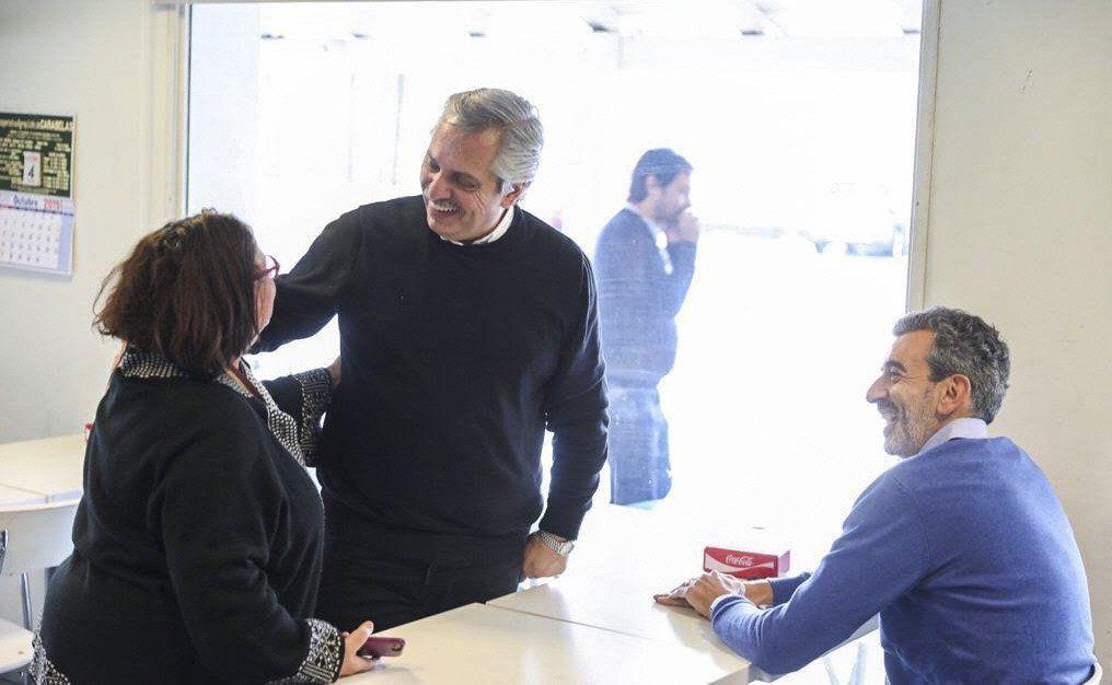 El candidato presidencial Alberto Fernández