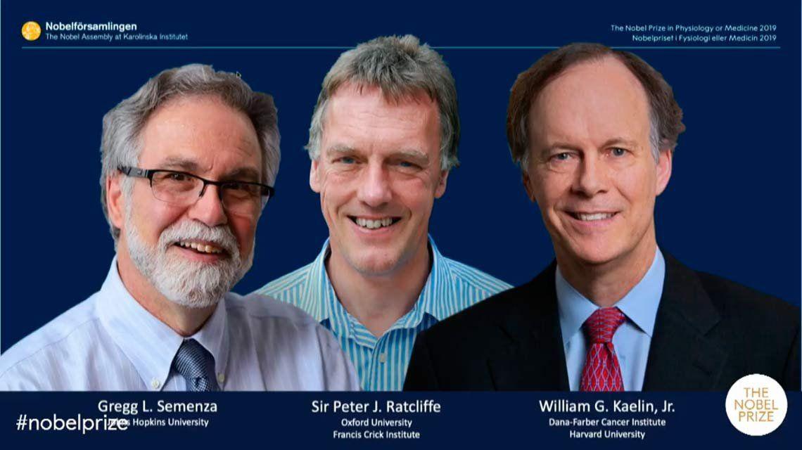El Premio Nobel de Medicina fue para dos norteamericanos y un inglés