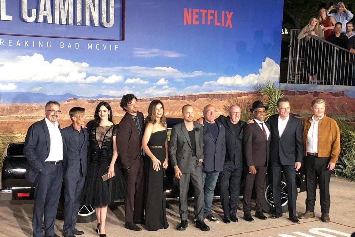 En fotos: el elenco de Breaking Bad se reunió en la premier de la película El Camino