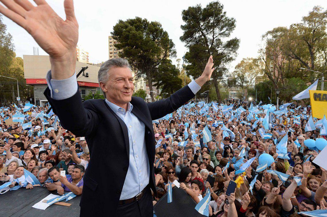 Macri encabezó en Neuquén la marcha del Sí Se Puede