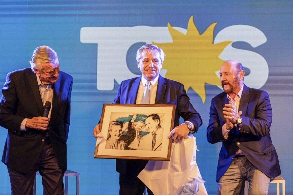 Alberto Fernández participó de un homenaje a Perón en la sede del PJ nacional
