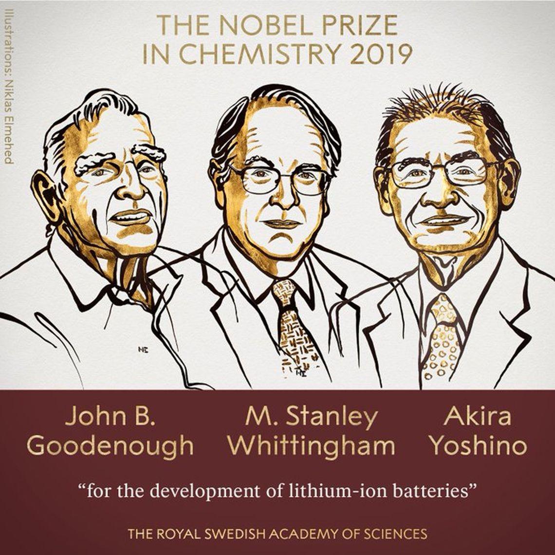 El Premio Nobel de Química fue para el desarrollo de baterías de ion-litio