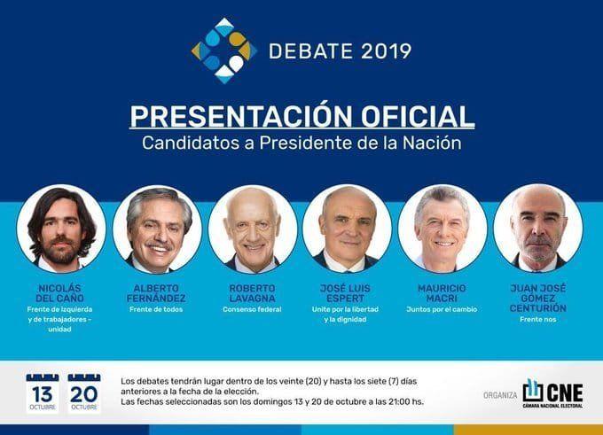 Primer debate presidencial: hora, lugar y cómo verlo en TV