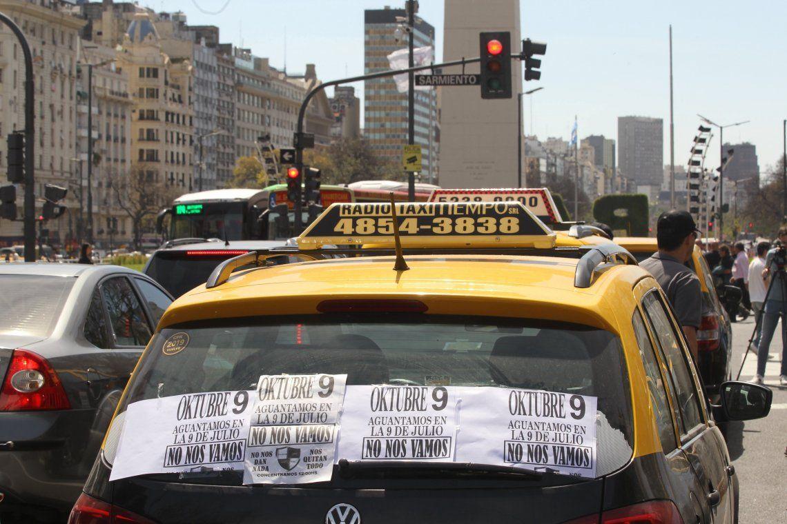 Los taxistas anti Ubery Cabify volvieron a tomar las calles de Buenos Aires