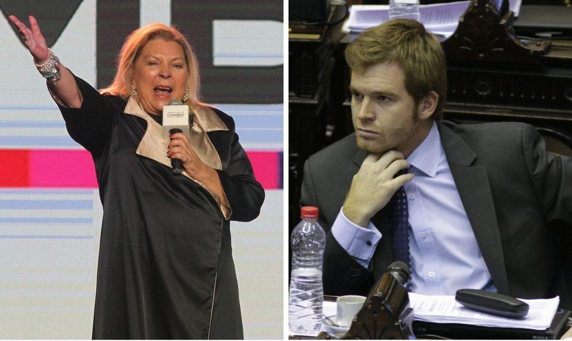 Elisa Carrió y Nicolás Massot se cruzaron por Alberto Fernández