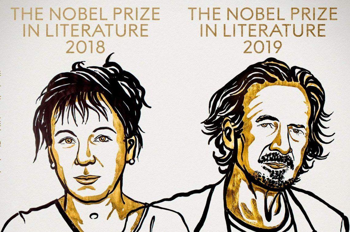 Finalmente, se entregaron los dos premios Nobel de Literatura a Olga Tokarczuk y Peter Handk