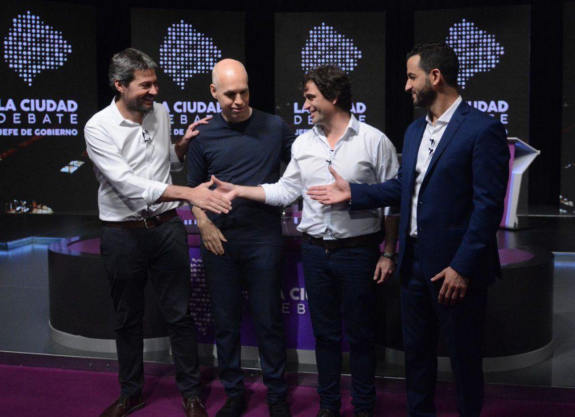 Así fue el debate entre los candidatos porteños Rodríguez Larreta, Lammens, Tombolini y Solano