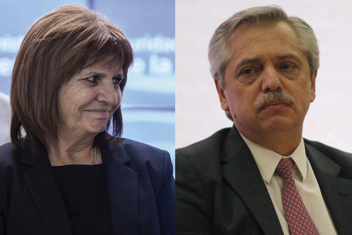 El picante cruce tuitero entre Patricia Bullrich y Alberto Fernández