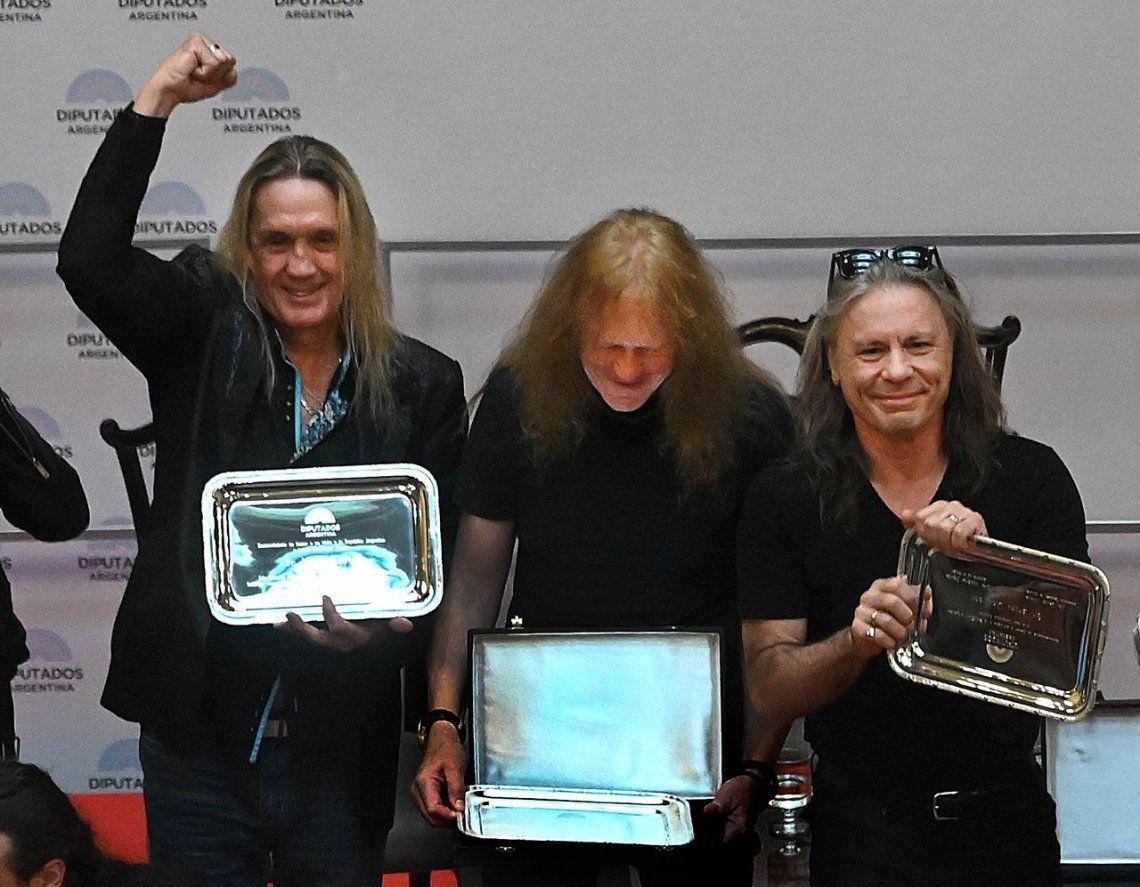 Iron Maiden en el Congreso: las mejores imágenes del reconocimiento que les hizo la Cámara de Diputados