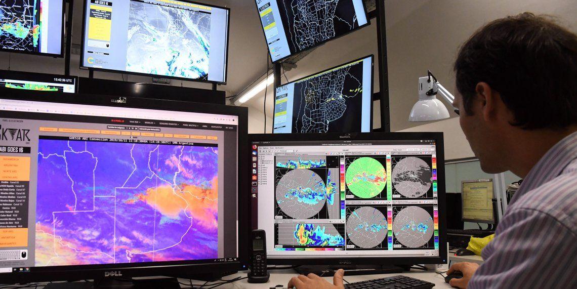 Una imagen de los nuevos y sofisticados equipos del Servicio Meteorológico Nacional.