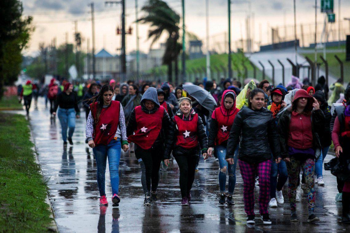 #ENM2019 en La Plata: por la tormenta, se suspendió el acto de apertura del 34° Encuentro Nacional de Mujeres