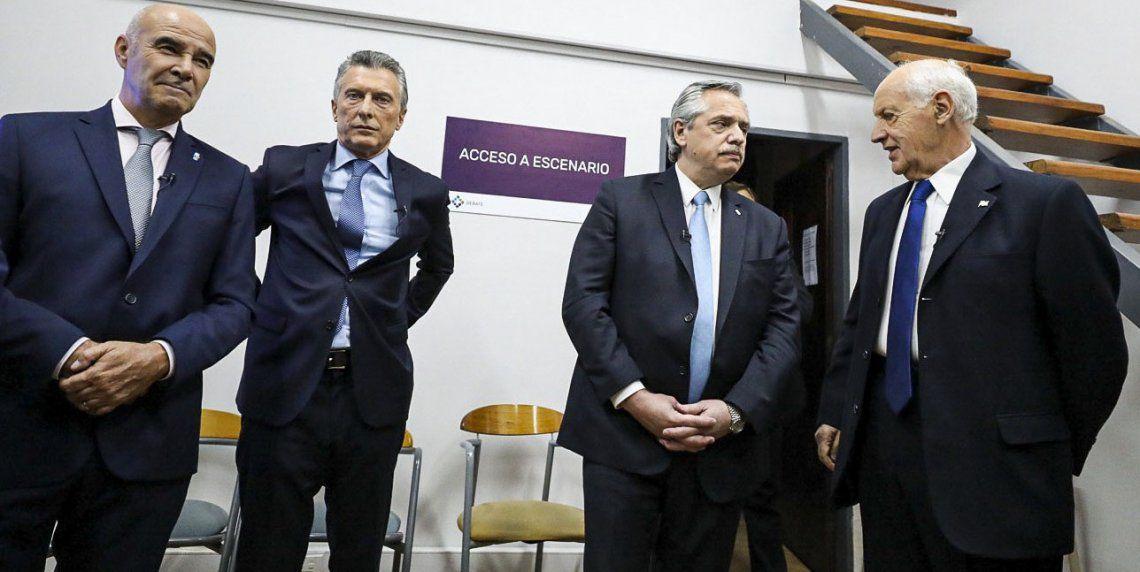 Cuatro de los candidatos presidenciales que participaron del debate