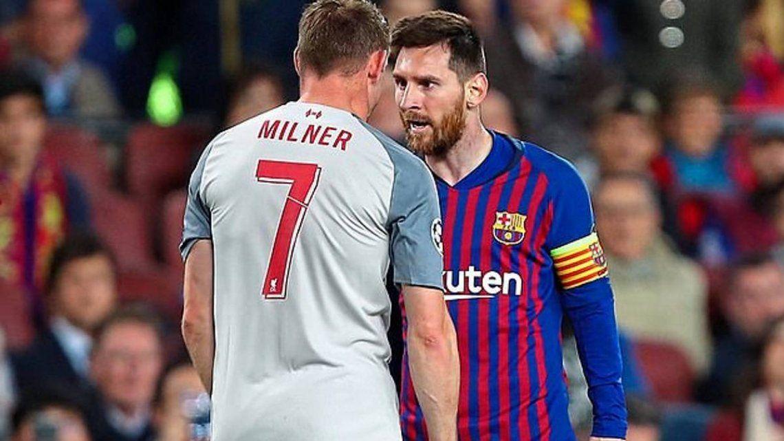 James Milner: Messi te hace ver como un estúpido en la cancha