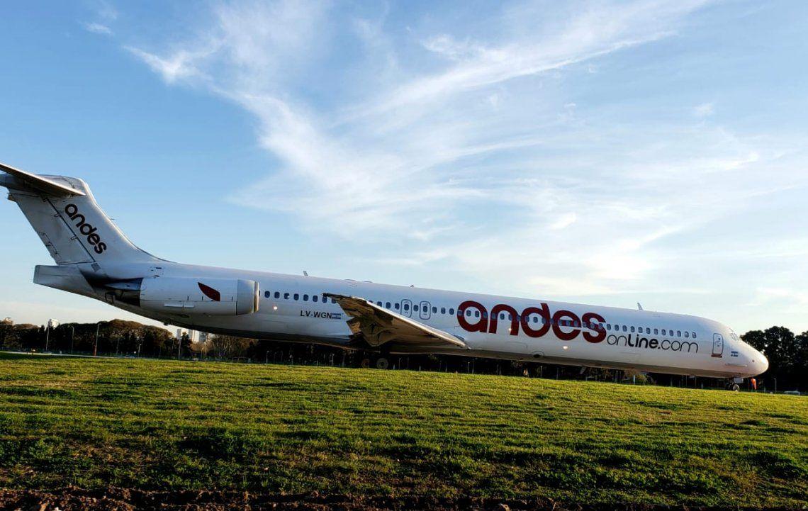 Por una semana no hay vuelos de Andes
