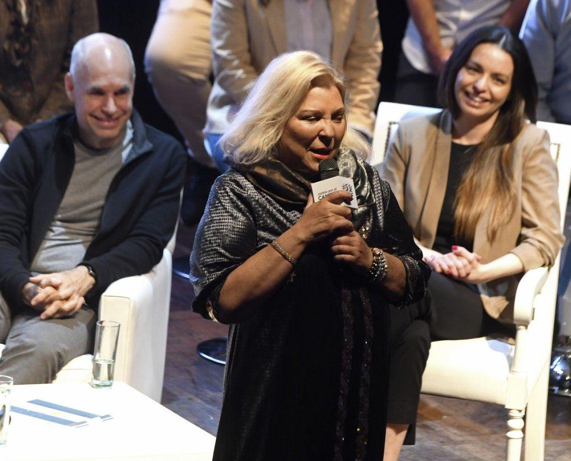 Elisa Carrió tildó de traidores a los candidatos oficialistas que llaman a cortar boleta
