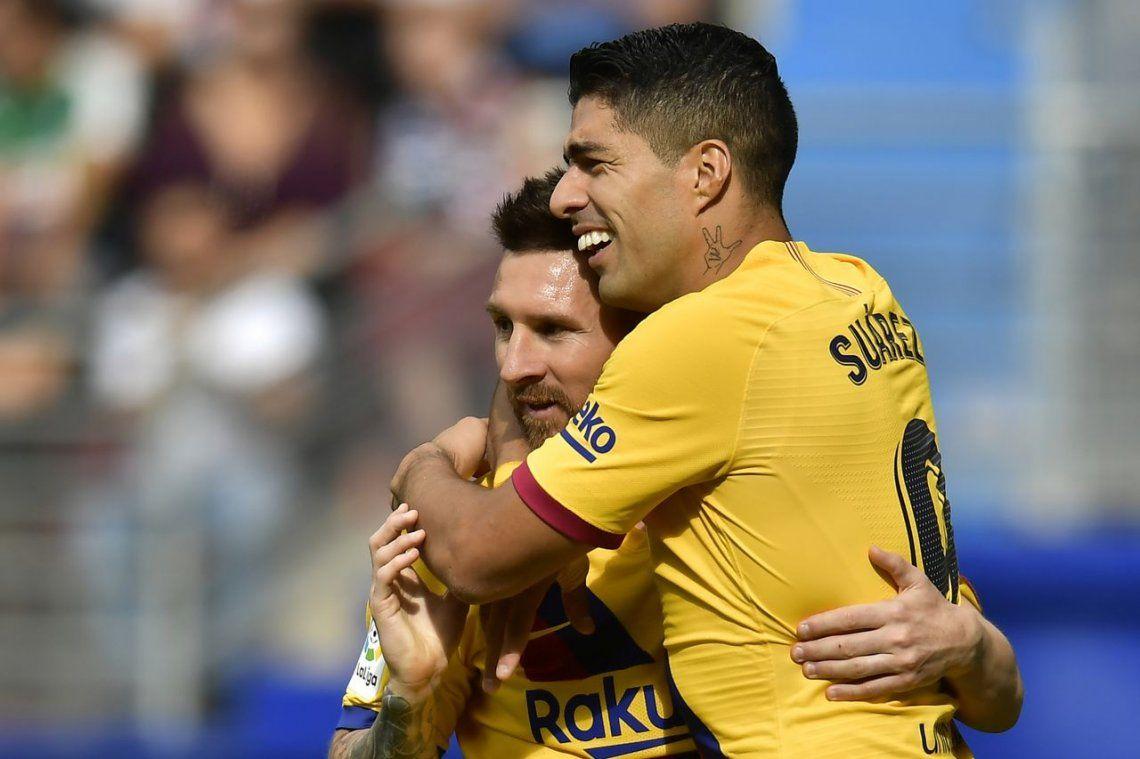 Con un Messi figura, Barcelona goleó al Eibar
