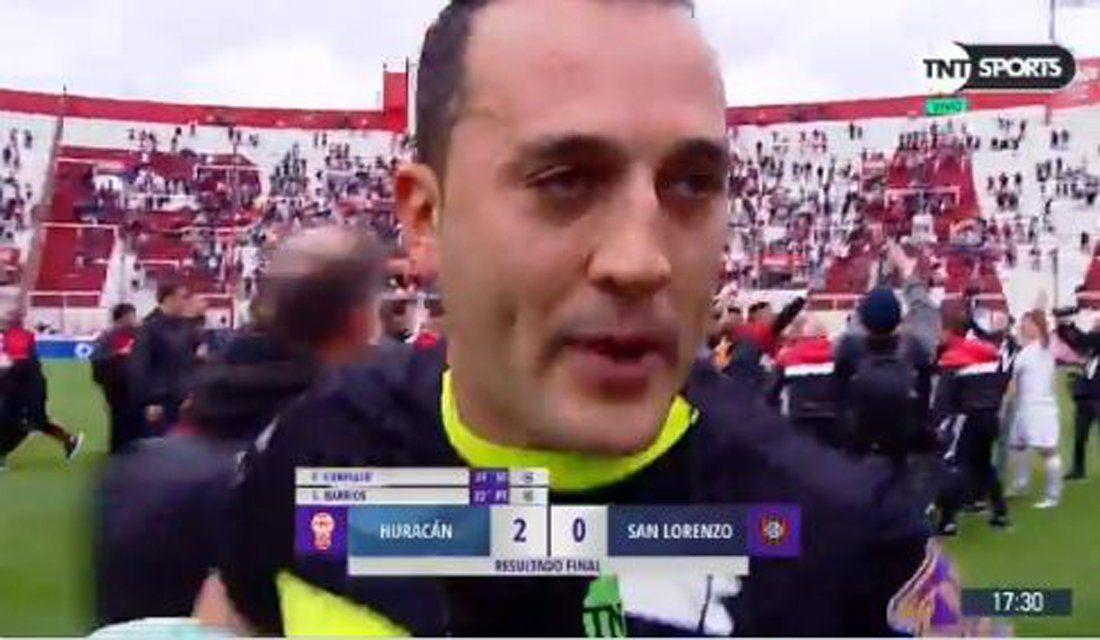 ¿Hubo apretada al árbitro? Qué pasó en el entretiempo de Huracán-San Lorenzo y la grave denuncia de Espinoza contra Nadur