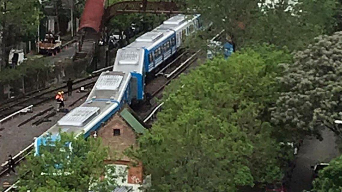 Descarriló un tren de la línea Mitre cerca de la estación Tigre