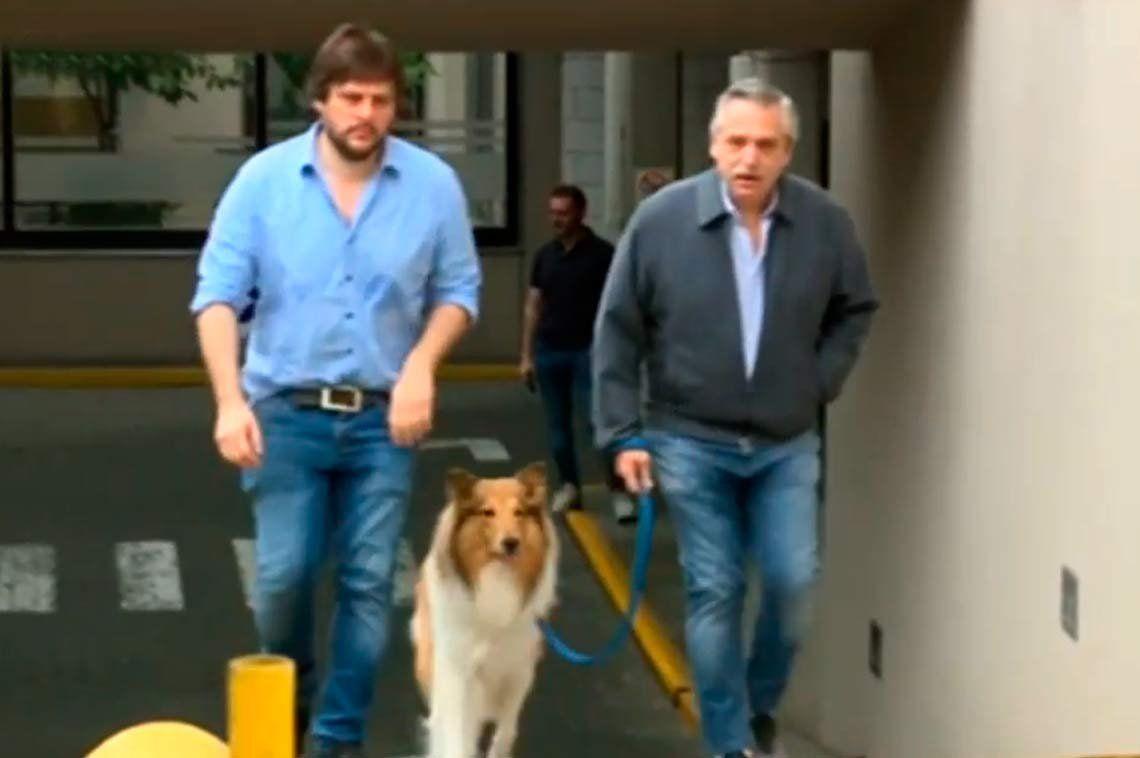 Elecciones 2019 | Alberto Fernández sacó a pasear a Dylan y recordó a Néstor Kirchner en un nuevo aniversario de su muerte