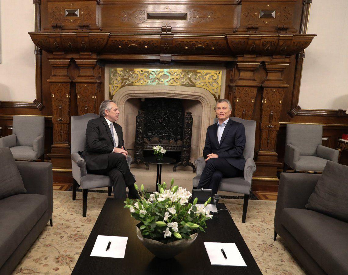 Elecciones 2019   Alberto Fernández y Mauricio Macri acordaron una transición ordenada en la Casa Rosada