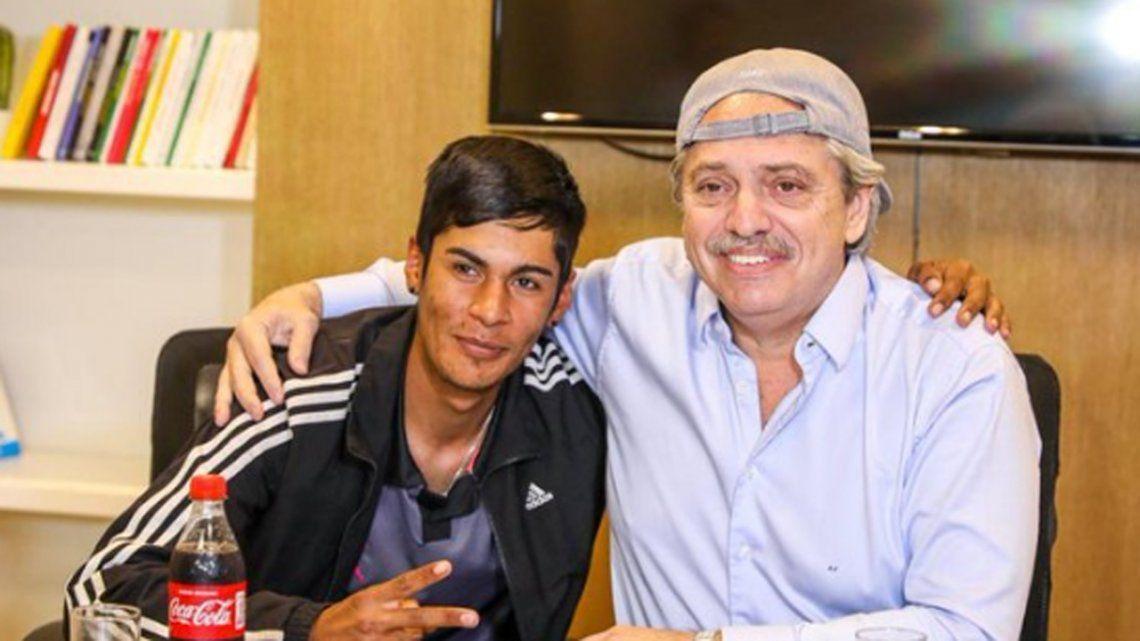 Alberto Fernández recibió a Brian, el presidente de mesa que fue discriminado