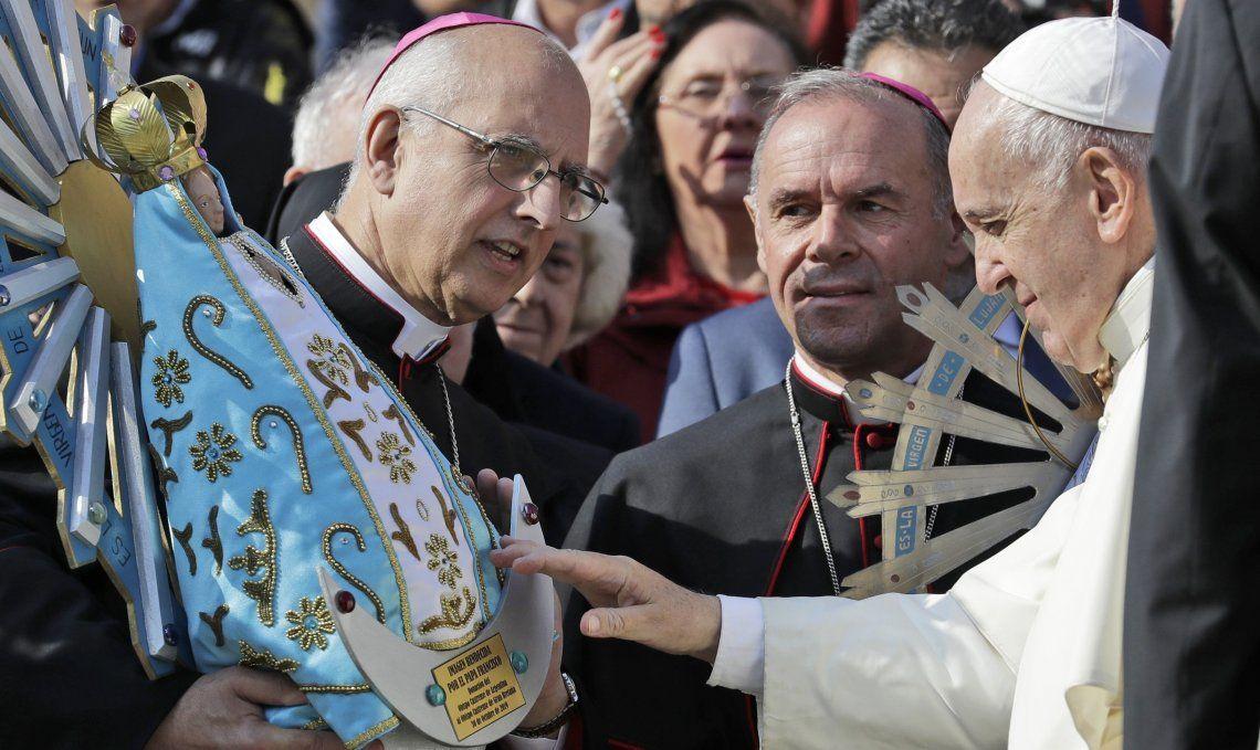 La Virgen de Luján fue bendecida por el papa Francisco en la plaza San Pedro de Roma.