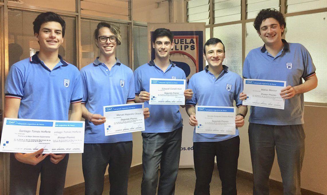 Olimpíada Argentina de Física: estudiantes de la Escuela Philips de Colegiales se alzaron con la mayoría de los premios