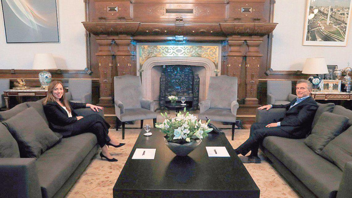 Primer encuentro de Mauricio Macri con María Eugenia Vidal tras la derrota