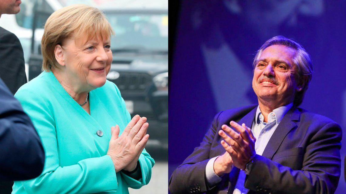 Alberto Fernández a Angela Merkel: Ansío que podamos potenciar la sociedad entre el Mercosur y la Unión Europea