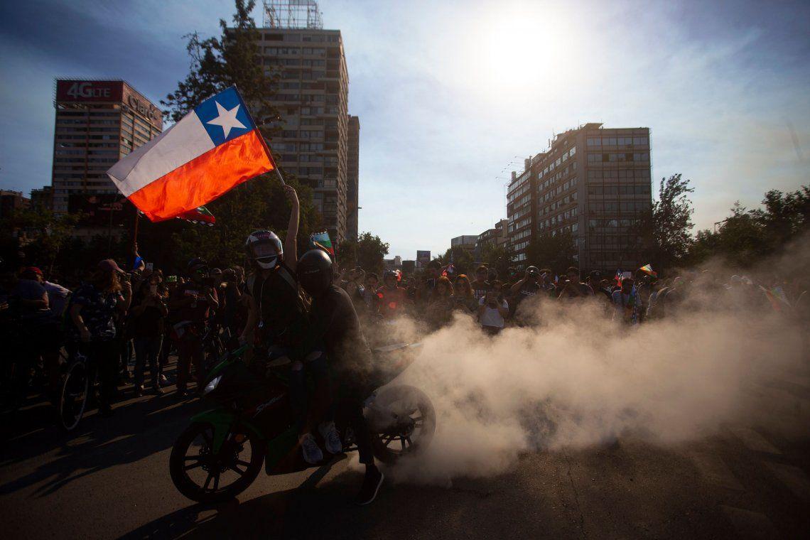 Las protestas volvieron a Chile en el inicio de la semana