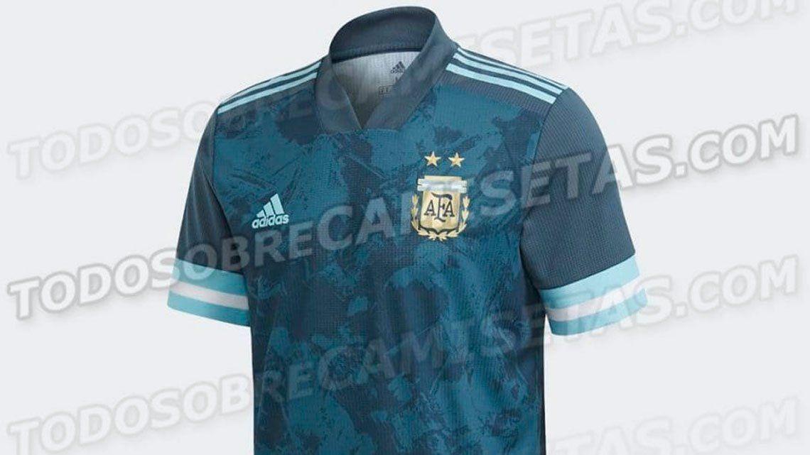 Se filtró en las redes sociales la nueva camiseta alternativa de la Selección Argentina