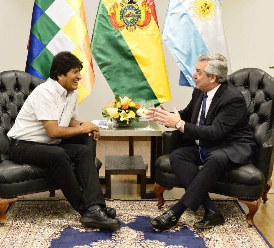 Alberto Fernández visitó a Evo Morales tras su triunfo en las PASO.