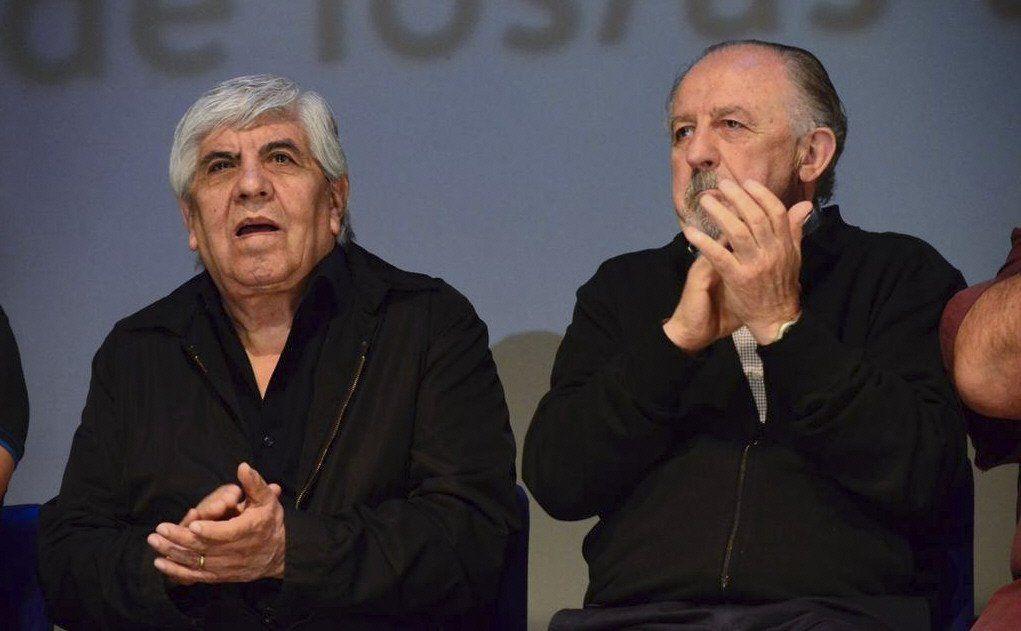 Moyano y Yasky participaron ayer en la sede de la UMET de un acto por los 14 años del No al ALCA.