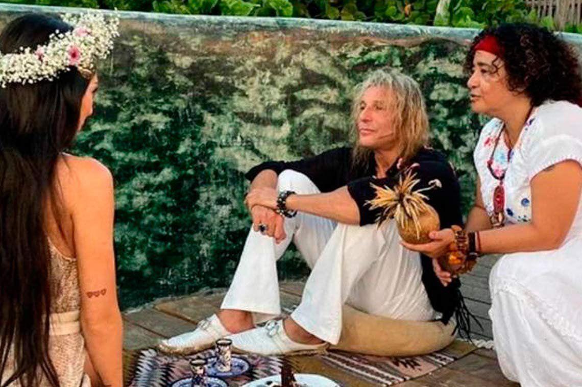 Claudio Caniggia y Sofía Bonelli recibieron la bendición chamana