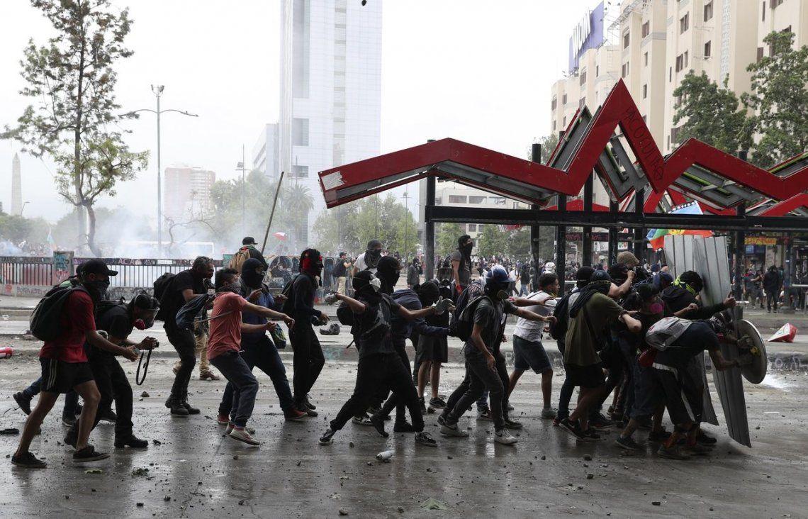 Crisis en Chile: una nueva jornada de protestas golpeó al país trasandino