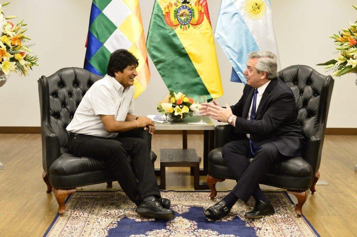 Alberto Fernández viajó a Jujuy para despedir a Evo Morales