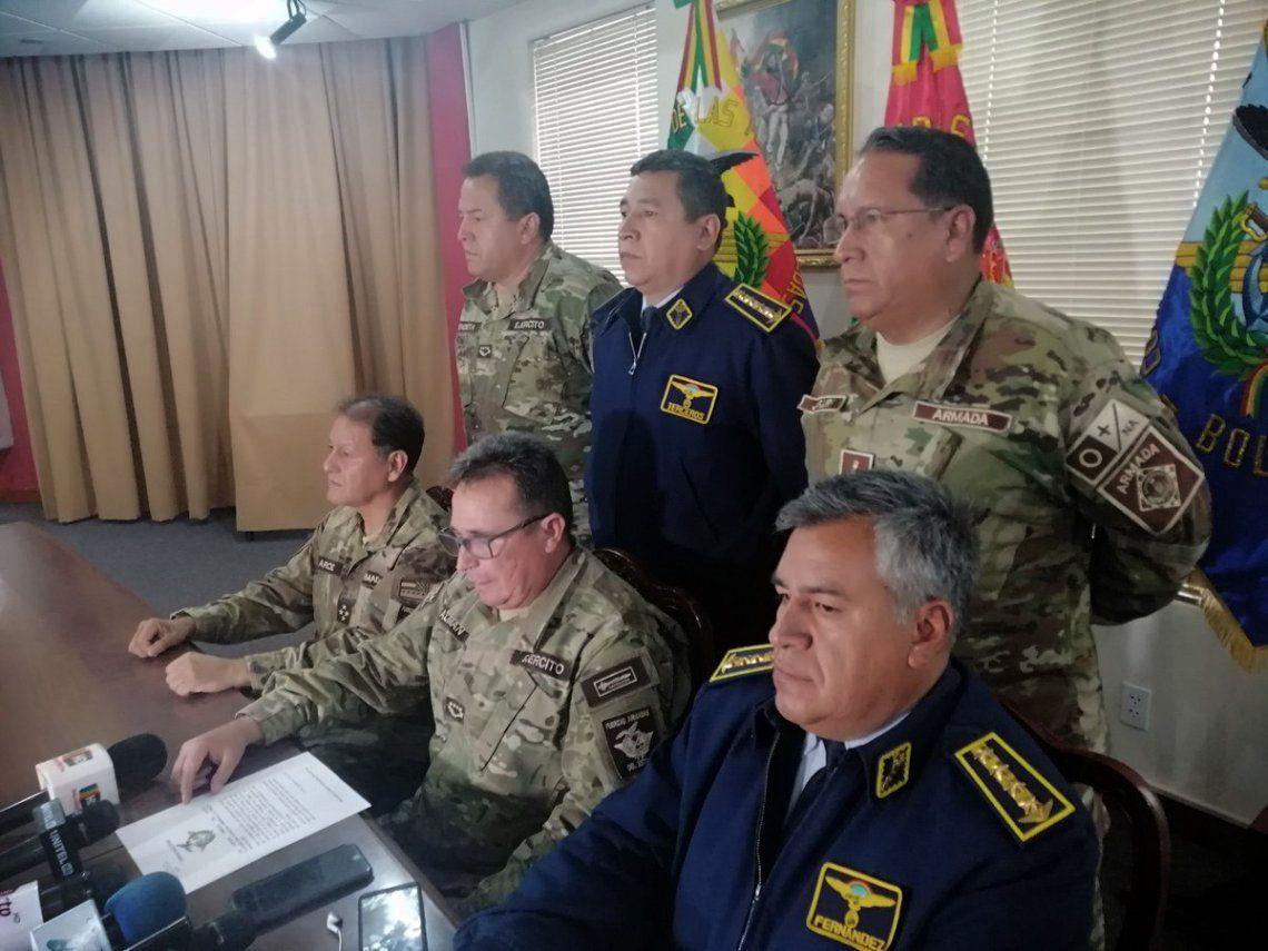 Así fue el pedido de renuncia de las Fuerzas Armadas a Evo Morales