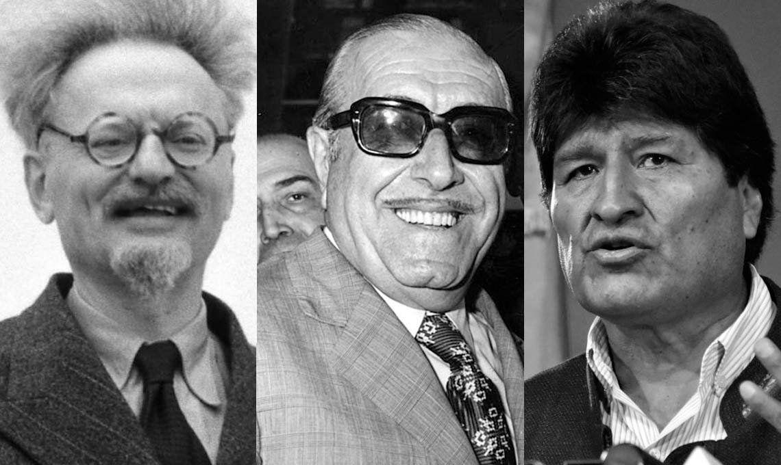 De Trotsky y Héctor Cámpora a Evo Morales, personalidades que se refugiaron en México
