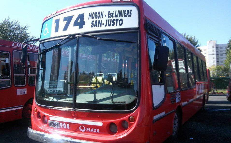 El ramal Morón de la línea 174 estaba a cargo del Grupo Plaza.