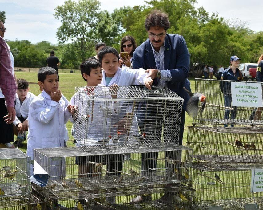 Participaron de la liberación alumnos de escuelas primarias.