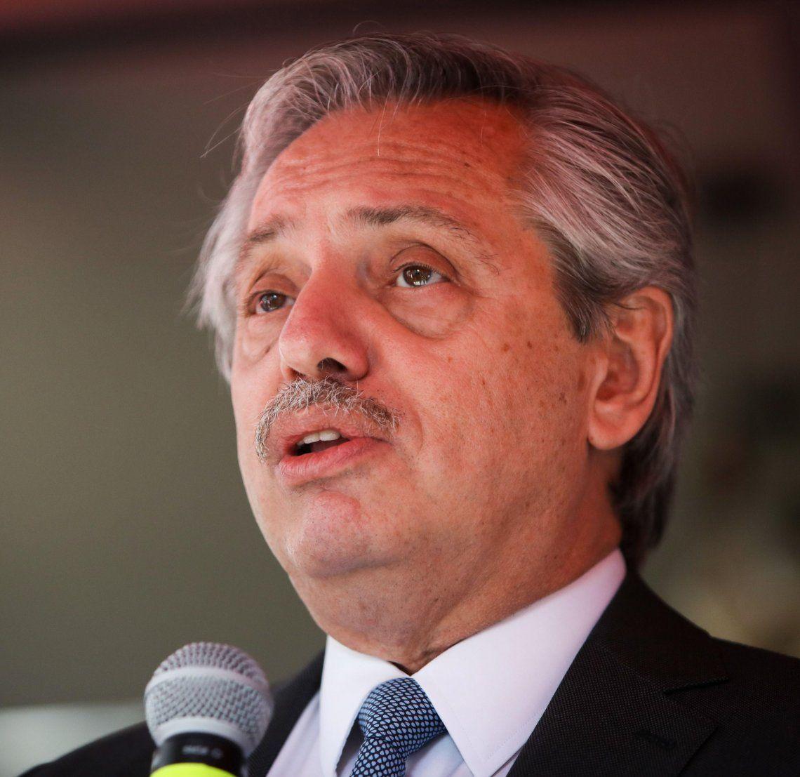 Alberto Fernández calificó de falacia al proyecto de Presupuesto.