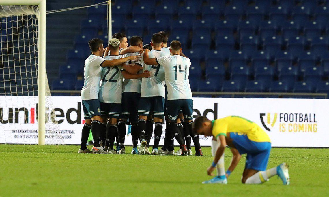 La Selección Argentina Sub-23 le ganó a Brasil con gol de Nicolás Capaldo y se consagró campeona del cuadrangular en España